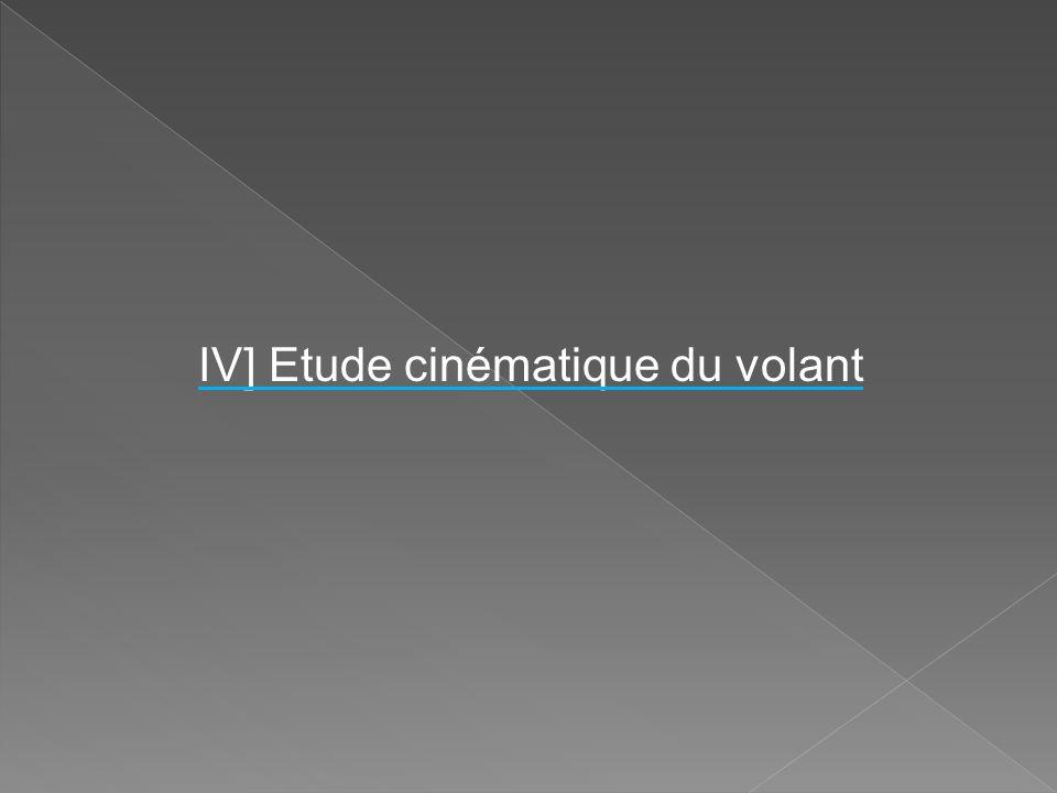 IV] Etude cinématique du volant